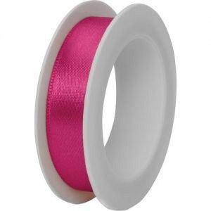 Panglica satin,15mmx3m,Uni Colour,roz