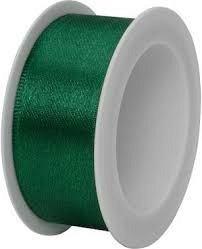 Rola panglica satin,25mmx3m,Uni Colour,verde inchis