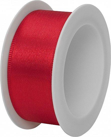 Rola panglica satin,25mmx3m,Uni Colour,rosu