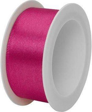 Rola panglica satin,25mmx3m,Uni Colour,roz