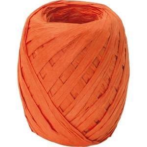 Ribon rafie,7mmx30m,Uni Colour,portocaliu