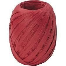 Ribon rafie,7mmx30m,Uni Colour,rosu