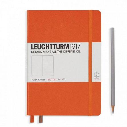 Caiet Leuchtturm A5,249f,punctat,portocaliu