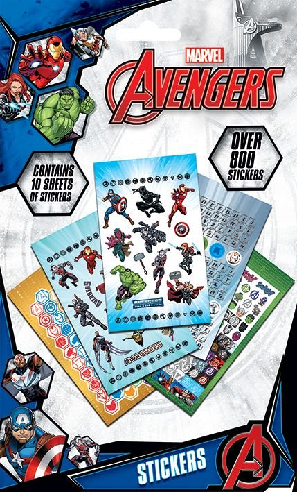 Set 800 abtibilduri Vinyl - Avengers