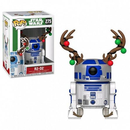 Figurina Funko POP! Bobble Star Ways Holiday: R2-D2
