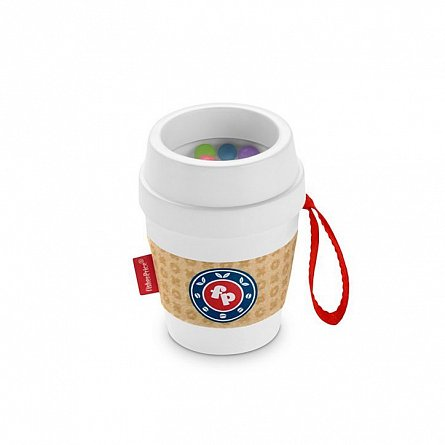 Cana de cafea Teether,Fisher Price,+3M