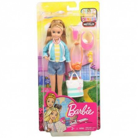 Papusa Barbie,Travel,Stacie,div acc