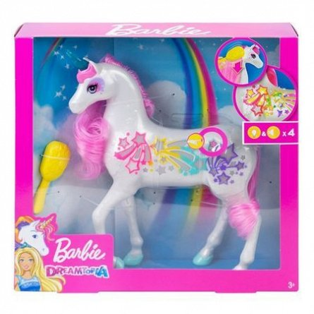 Papusa Barbie,Dreamtopia,Unicorn,cu lumini si sunete