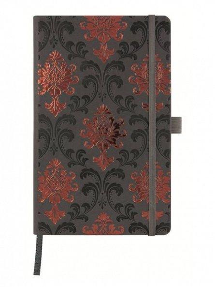 Agenda 13x21cm,120f,velin,Baroque Copper