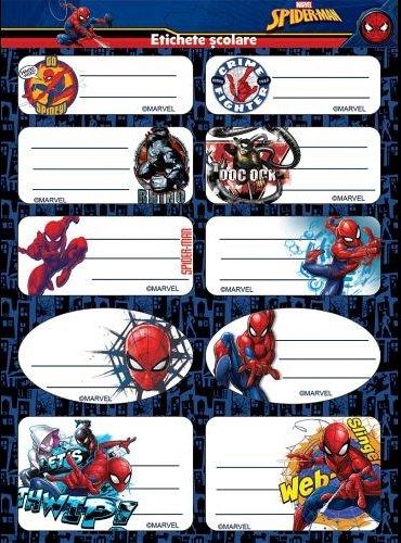 Etichete 20buc/set,Spiderman