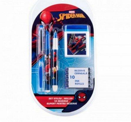 Stilou+10 rezerve,Spiderman
