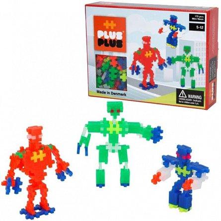 Plus-Plus,Neon,Roboti,170pcs