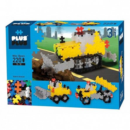 Plus-Plus,Basic 3in1,Lucrari rutiere,220pcs