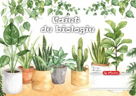 Caiet biologie,24file,Herlitz