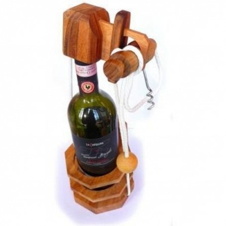 Puzzle mecanic,Not For Alcoholic,Corkscrew bottle