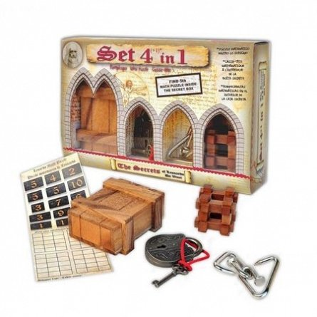 Puzzle mecanic,Leonardo,mix puzzle,4in1/set