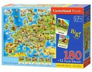 Puzzle educativ,Harta Europei,180pcs