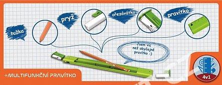 Rigla 20cm,creion+ascutitoare,Y-plus
