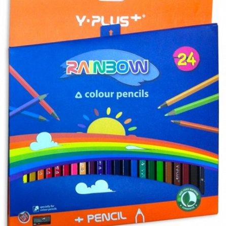 Creioane colorate,24b/set,Y-plus,Rainbow