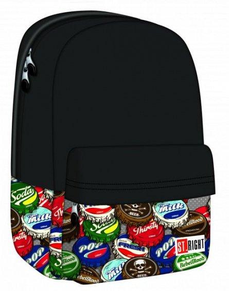 Rucsac 31x40x17cm,1comp,St.Right,Bottle Caps