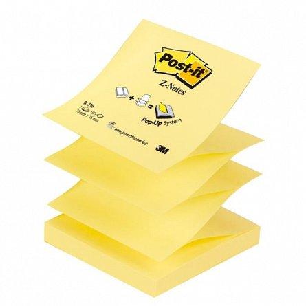 Notite adezive Post-it, 76 x 76 mm, 100 file,  Z, dispenser