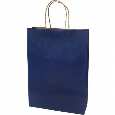 Punga cadou XL, albastru, kraft