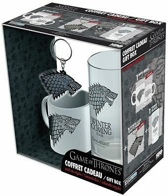 Set Pahar 29cl+Pahar Shot+Mini Cana Game of Thrones, Stark - AbyStyle