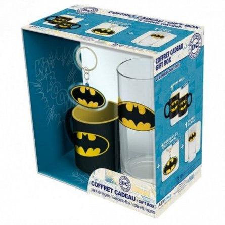 Set Pahar 29cl+Breloc+Mini Cana DC Comics, Batman - AbyStyle