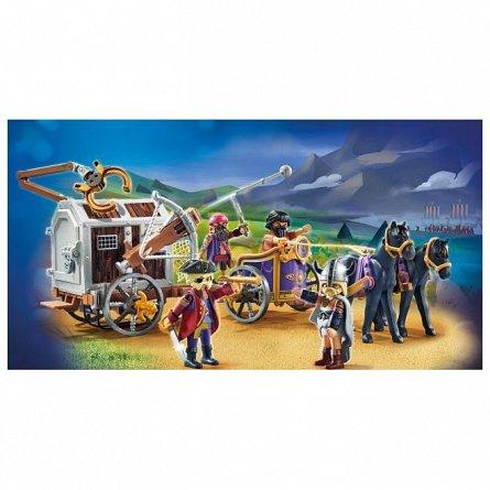 Playmobil-Charlie si inchisoare trasa de cai