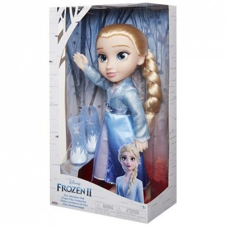 Papusa Elsa,Frozen 2,cu cu rochie de calatorie