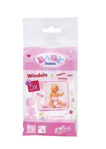 Accesorii Zapf Baby Born - Scutece, pachet 5 buc