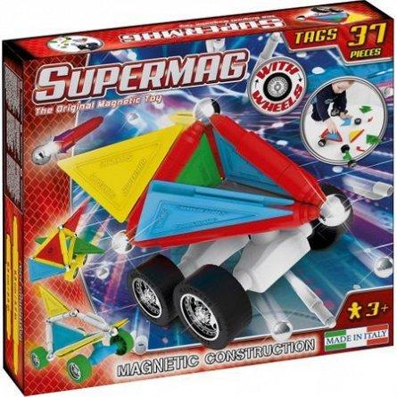 Supermag,Tags,Wheels-Set constructie,magnetic,37pcs,+3Y