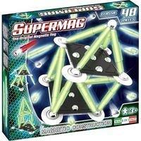 Supermag,Classic,Glow-Set constructie,magnetic,48pcs,+3Y