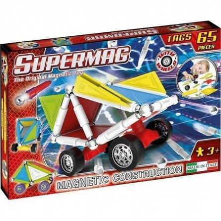Supermag,Tags,Wheels-Set constructie,magnetic,65pcs,+3Y