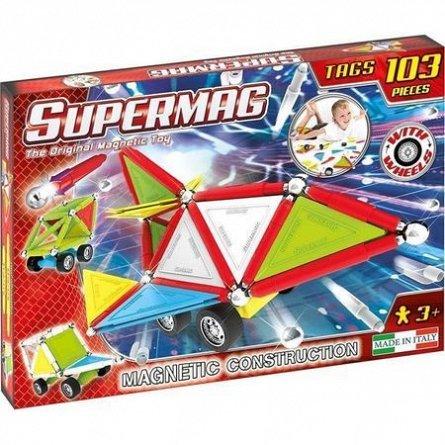 Supermag,Tags,Wheels-Set constructie,magnetic,103pcs,+3Y