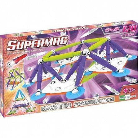 Supermag,Classic,Trendy-Set constructie,magnetic,120pcs,+3Y