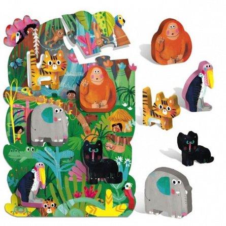 Puzzle Headu - Montessori, Primul meu puzzle - Jungla