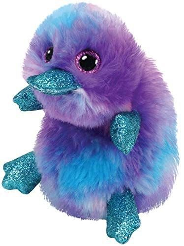 Plus TY Beanie Boos Zappy,Ornitorinc purpuriu,15cm