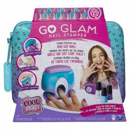 Set studio manichiura,Go Glam,cu accesorii