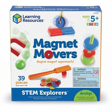 Set Magie cu magneti,STEM,Learning Resources,+5Y