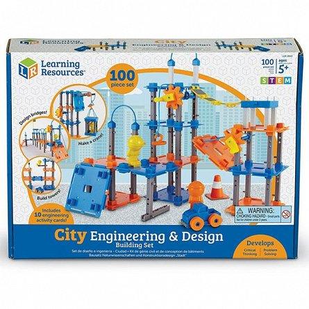Set Construieste oraselul,STEM,Learning Resources,+5Y