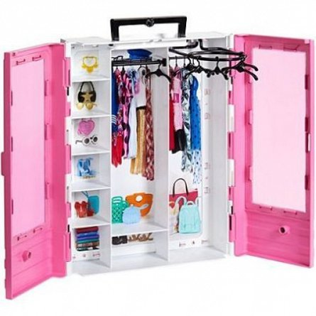 Barbie Fashionistas-Ultimate closet,Dressing roz
