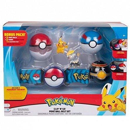 Set joaca Pokemon,Curea cu 2 figurine,3 bile/set