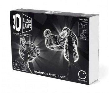 Lampa ambientala 3D Illusion: Catel - Satzuma