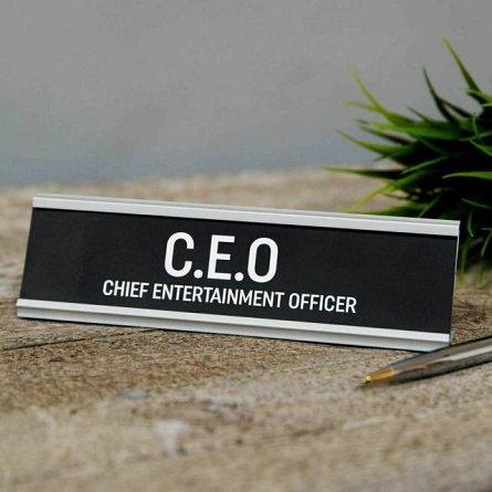 CEO Desk Plaque