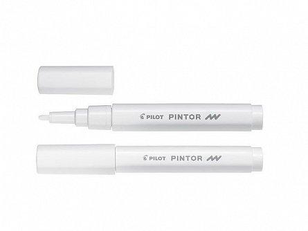 Marker cu vopsea Pintor,F,alb