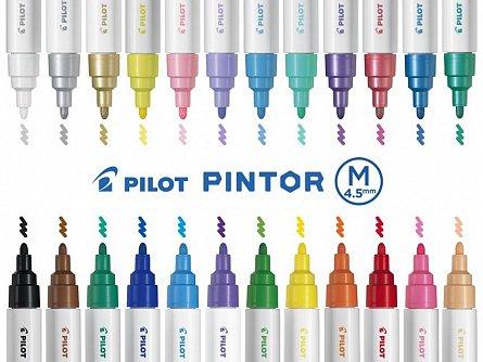 Marker cu vopsea Pintor,M,alb pastel