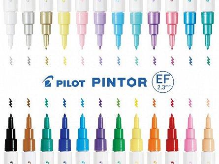 Marker cu vopsea Pintor,EF,argintiu metalic
