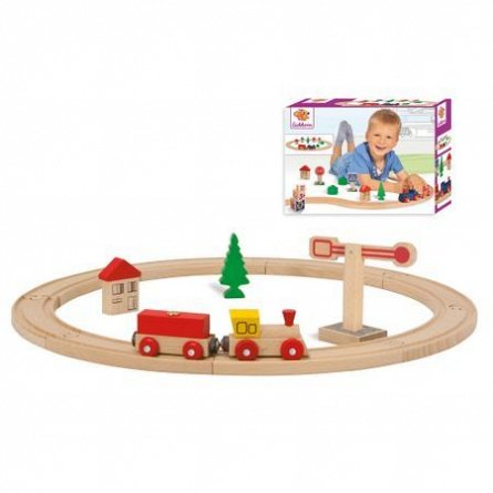 csSet Tren circular,lemn,20pcs,Eichhorn,+3Y
