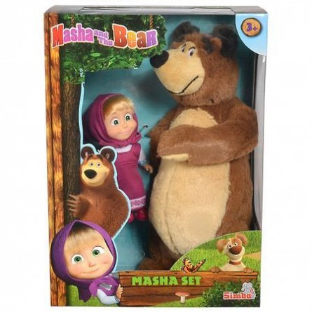 Masha and the Bear,Plus Masha si Ursul,25cm